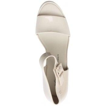Melissa Mar Ivory Ankle Strap Wedge Sandals