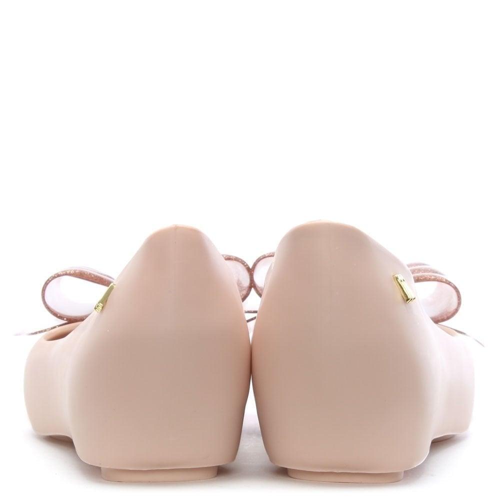 c56bfa23b565 Melissa Ultragirl Blush Glitter Sweet Bow Ballet Flats - Melissa ...