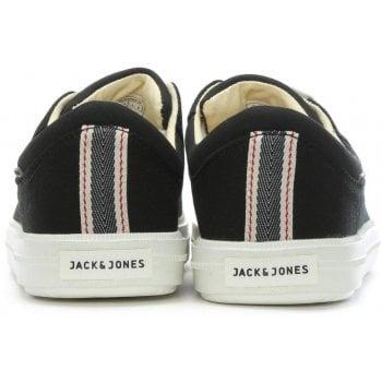 Jack & Jones Mervin Black Canvas Lace Up Trainers