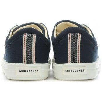 Jack & Jones Mervin Navy Canvas Lace Up Trainers