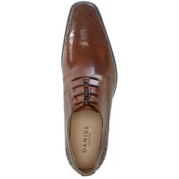 Daniel Bridport Tan Leather Perforated Lace Up Shoe