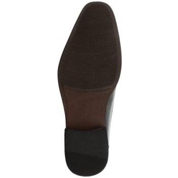 Gucinari Black Leather Slip On Loafer