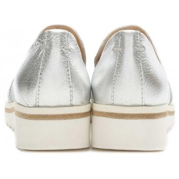 Daniel Georgetown Silver Leather Low Wedge Loafer