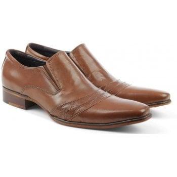 Gucinari Tan Leather Contrast Stripe Loafer
