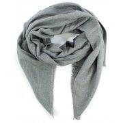 Daniel Luxe Silk Mix Grey Scarf