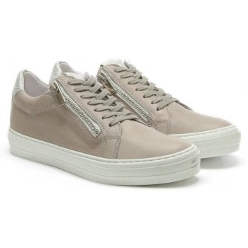 Daniel Sweets Grey Leather Reptile Lace Up Trainer