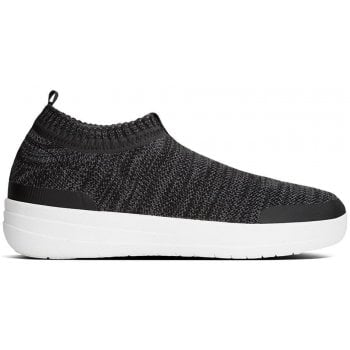 Fitflop Uberknit Black Slip On Sneakers