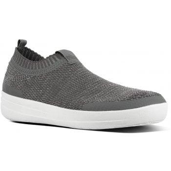 Fitflop Uberknit Pewter Slip On Sneakers