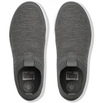 Fitflop Uberknit Pewter Slip On Sneakers