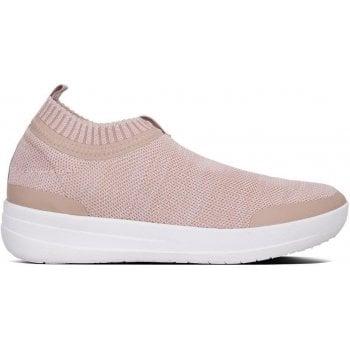 Fitflop Uberknit Pink Slip On Sneakers