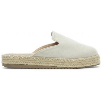 DF By Daniel Troy White Suedette Backless Espadrille Mules