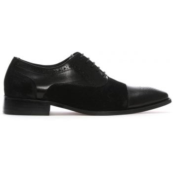 Daniel Cranmore Black Leather & Suede Brogues