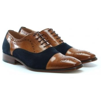 Daniel Cranmore Tan Leather & Suede Brogues