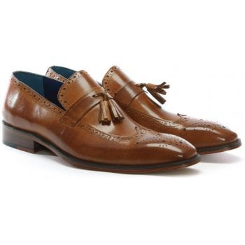Daniel Evershot Tan Leather Brogue Loafers