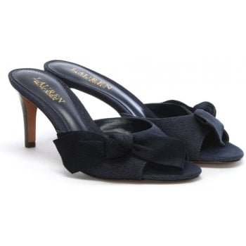 Lauren by Ralph Lauren Genevie Denim Knotted Front Mules