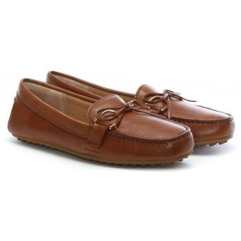 Lauren by Ralph Lauren Briley Tan Leather Driving Loafers