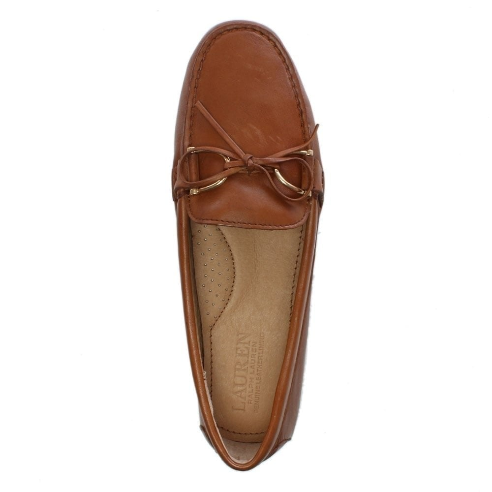 d47ae630a01 Lauren by Ralph Lauren Briley Tan Leather Driving Loafers - Lauren ...