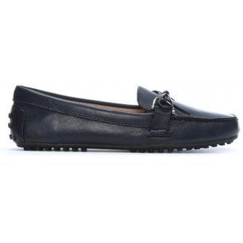 Lauren by Ralph Lauren Briley Navy Leather Driving Loafers