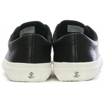 Lauren by Ralph Lauren Jolie Black Leather Lace Up Sneakers