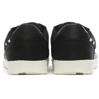 Jack & Jones Rayne Black Leather Lace Up Trainers
