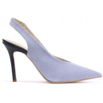 Daniel Slings Lilac Suede Sling Back Court Shoes