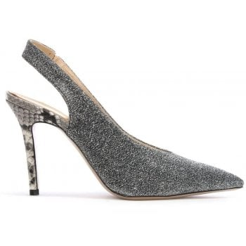 Daniel Slings Silver Sling Back Court Shoes