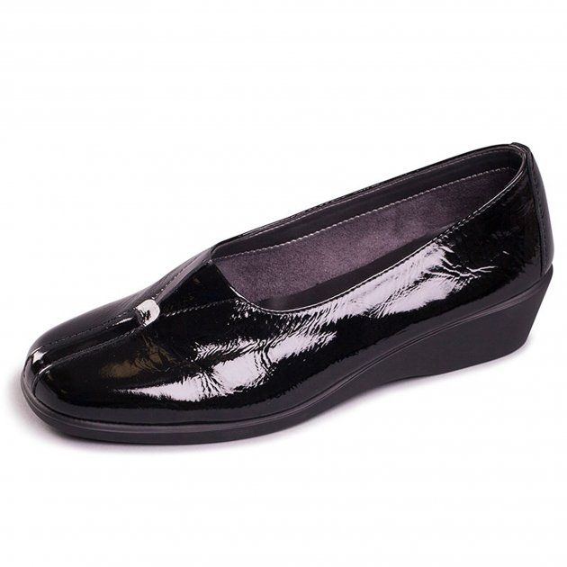 Aerosoles Four Some 1046 Black Patent Shoes