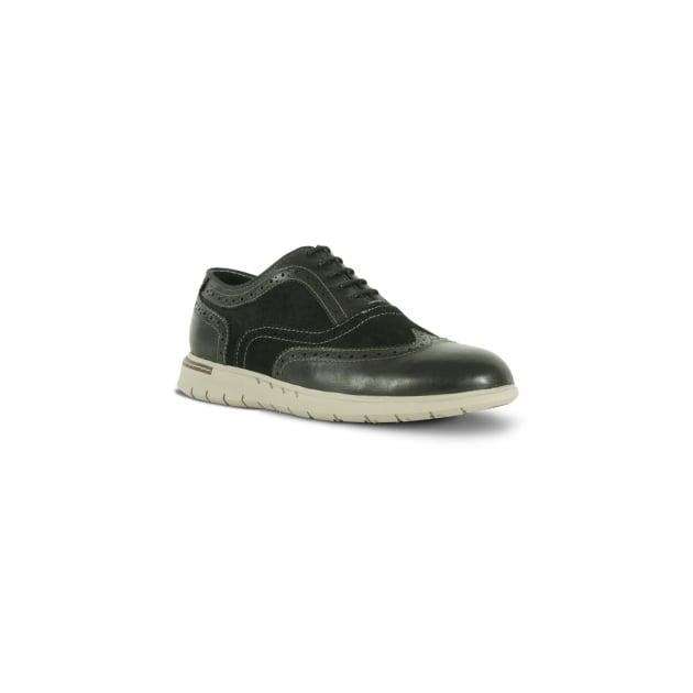 Azor Bergamo Casual Lace Up Shoe - Black
