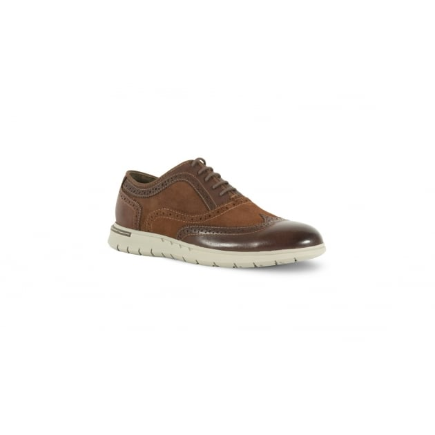 Azor Bergamo Casual Lace Up Shoe - Brown