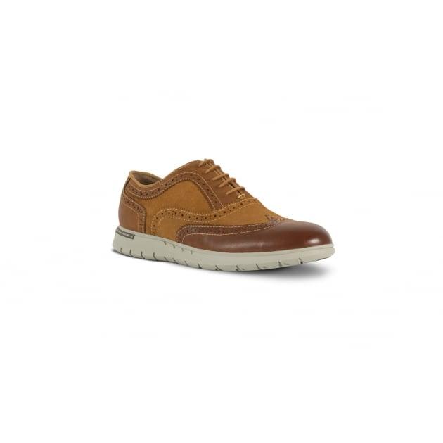Azor Bergamo Casual Lace Up Shoe - Tan