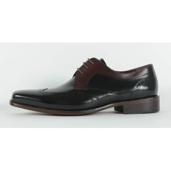 Azor Sardinia Lace Up Shoe - Black/Burgundy