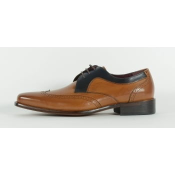 Azor Sardinia Lace Up Shoe - Tan/Navy
