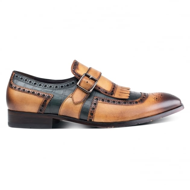 Azor Shoes Azzuri (Zm3770) Brown Blue Shoes