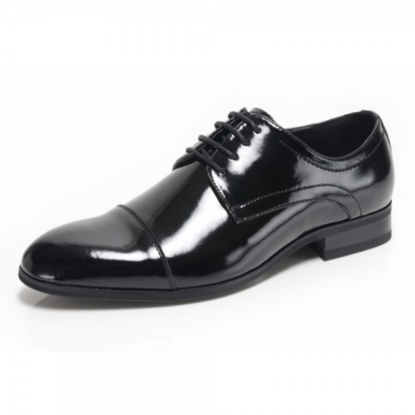 f2f9fe84a3704 Azor Shoes Charles 2 Men's Black Patent Shoes - Free Delivery at Shoes.co.uk
