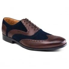 Azor Shoes Miller Zm3749 Brown/Blue Shoes