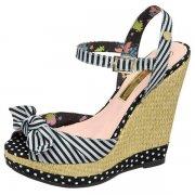 Babycham Jellybean Ils006 Black/White/White Sandals