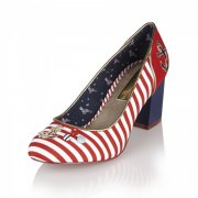 Babycham Rochelle Anchor Red Shoes