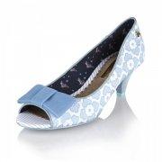 Babycham Uma Lace Blue Shoes