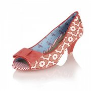 Babycham Uma Lace Orange Shoes