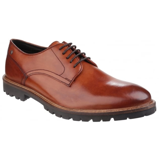 Base London Barrage Lace Up Derby Shoe Tan Shoes