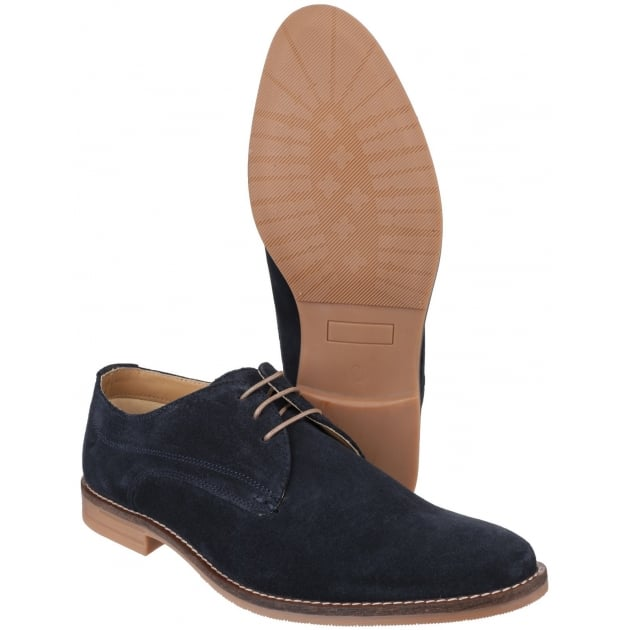 Base London Bayham Suede Navy Shoes