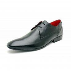 Base London Button Black Shoes