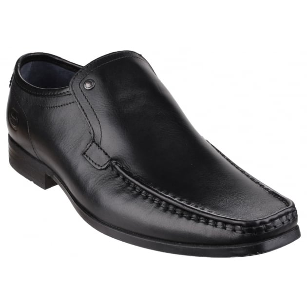 Base London Carnoustie Waxy Black Shoes