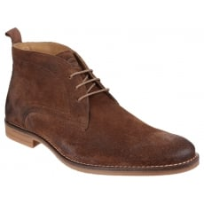 Base London Dore Dirty Suede Tobacco Boots
