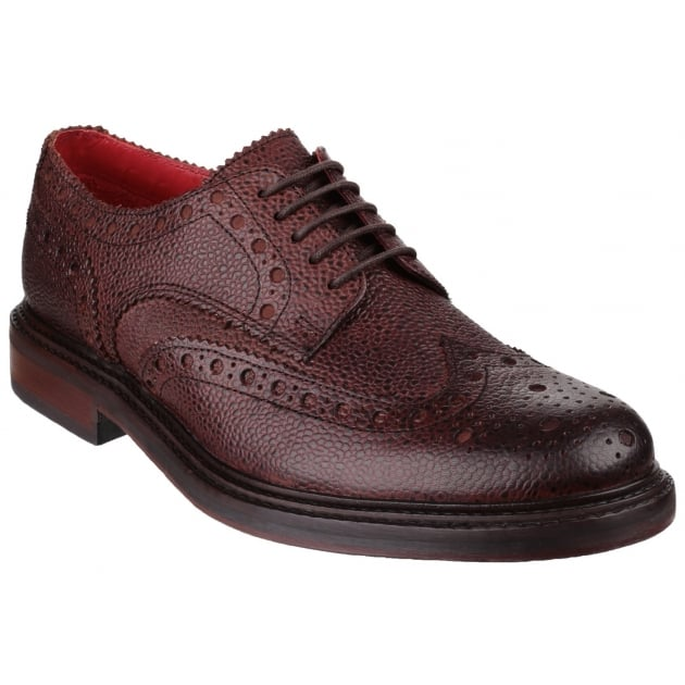 Base London Faraday Grain Brown Shoes