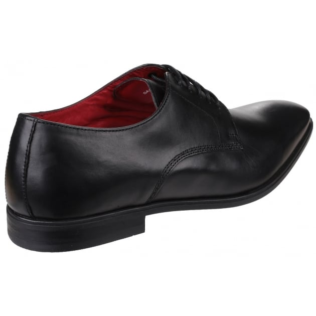 Base London George Waxy Black Shoes