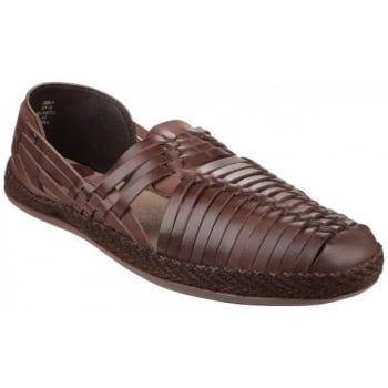 Base London Glasto Weave Brown Sandals