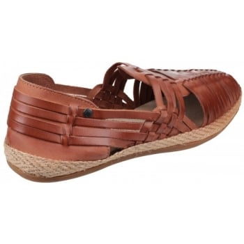 Base London Glasto Weave Tan Sandals