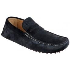 Base London Morgan Suede Navy Shoes