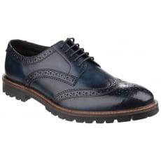 Base London Trench Lace Up Brogue Shoe Blue Shoes